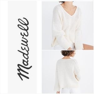 MADEWELL Breezeway Pullover Knit Sweater Ivory SM